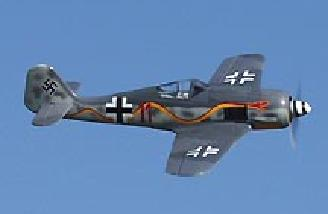 The Alfa Focke Wulf is one of the best flying small airplanes I've seen to date.  It flies much like a larger pattern plane.  The 190 isn't twitchy and will handle a fair amount of wind.  Launching using the attached rib gets the Focke Wulf airborne witho