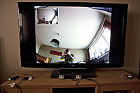 Name: TV test 1.jpg Views: 371 Size: 231.5 KB Description: GoPro x 2 -> IN OUT -> LCD TV Both cameras in front.