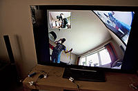 Name: TV test 2.jpg Views: 342 Size: 242.8 KB Description: GoPro x 2 -> IN OUT -> LCD TV Camera 1 in front, camera 2 from the side.