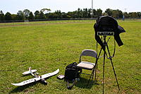 Name: RC Flying 9-3-11 002.jpg Views: 44 Size: 302.9 KB Description: My FPV setup (minus the laptop for ground recording, which I had already taken down because my recording software wasn't working)