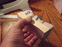 Name: DSCF1216.jpg Views: 33 Size: 159.2 KB Description: Pic #22. Now turn the plug around so you can cut the opposite side..
