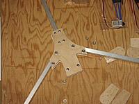 Name: TRICOPTER BUILD 005.jpg Views: 1367 Size: 210.7 KB Description: Frame assembled.