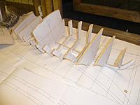 Name: P1060374.jpg Views: 105 Size: 63.0 KB Description: frames dry fitted to keel to test fit