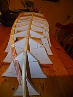 Name: P1060381.jpg Views: 104 Size: 112.3 KB Description: In plan. The keel looks a bit bent becuase the chine is a tight fit and the other side isn't done yet to balance it up. Dissassembled after this picture to make sure it doesn't get bent into shape.