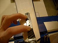 Name: tn_S6300077.jpg Views: 148 Size: 258.6 KB Description: Lined up tail gear assembly and marked holes