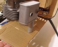 Name: tn_S6300153.jpg Views: 103 Size: 45.1 KB Description: I taped a piece of cardboard under the fuse and cut a hole where the pipe hit.