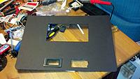 Name: GS1.jpg Views: 162 Size: 151.9 KB Description: I used the black foam board from Michaels and made cutouts for the screen and also the 2 Voltmeters i am running to show battery voltage