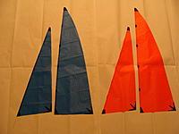Name: DSC02479.jpg Views: 95 Size: 134.5 KB Description: Home-made copy left, kit sails right.