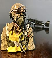 Name: 74639692-1981-443B-A2EB-DEF56CD2E0A9.jpeg Views: 6 Size: 2.15 MB Description: European theater pilots also flew in khaki as well as those in the Pacific. One-seventh scale WW2 U.S. pilot made by Aces of Iron.