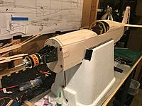 Name: f.jpg Views: 13 Size: 698.7 KB Description: Here is my P-51B with the motor in place. Now is moment of truth if the cowl will fit on correctly. I was a skosh off and had the sand out the bottom of the F1 hole to make it not rub.