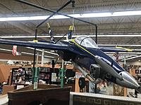 My FA-18 jet prop was built from a kit in about 2000. I  found it in an antique mall in Cincinnati, Oh.  Note the tuned pipe on that Super Tigre 90 engine.