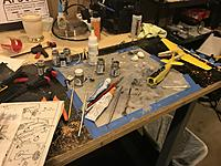 Name: Workbench - messy.jpg Views: 7 Size: 293.0 KB Description: I make more of a mess making little bitty plastic models that great big RC models!