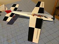 Name: Extra300-bottom.jpg Views: 132 Size: 419.4 KB Description: Extra 300, 450mm wingspan showing the FrSky VD5M receiver, XP7A ESC, AP05-5000kv motor, HK-5320 rudder/elevator and HK-5330 aileron servos.