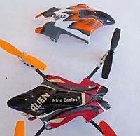 Name: 1SQ_NineEaglesAlienCanopies.jpg Views: 74 Size: 124.7 KB Description: Nine Eagles Alien and Heli-Max 1SQ canopies