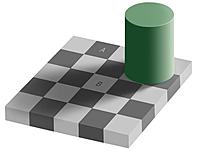 Name: contrast illusion_brain_shadowXd.jpg Views: 98 Size: 25.0 KB Description: Copy or save the picture then open it in your image editor. Select a 'piece' of either square & drag it onto the other for the answer!