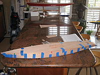Name: IMG_0145.jpg Views: 758 Size: 268.1 KB Description: Sides epoxyed with deck taped on while epoxy dries.
