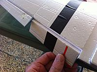 Name: photo.jpg Views: 140 Size: 119.8 KB Description: Slit Flap hinges by not cutting all the way through and the Wing Tape on the underside provides a ready-made Hinge.
