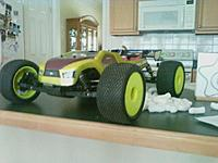 Name: downsize(9).jpg Views: 55 Size: 64.7 KB Description: truggy with green bashing wheels