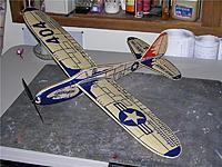 Name: Pat's AJ Interceptor.jpg Views: 111 Size: 151.0 KB Description: Pat Tritle's AJ 404 Interceptor kit. 30 inch wingspan for 3 channel, 3.2 oz flying weight (if you're Pat).  :) Decal kit is available from Callie Graphics.