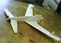 Name: P-55Glider.jpg Views: 71 Size: 23.9 KB Description: The original form of my BBCC5 entry.  This is a balsa free flight glider that I used to experiment with CG on a canard with swept wings (not so easy).