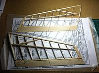 Name: Arrowhead both wings.jpg Views: 77 Size: 570.3 KB Description: Both wings done in one day.  Man this is a quick build!   Note the lines in the trailing edge.  That divides the elevator from the aileron, since this wing will not be using mixing.