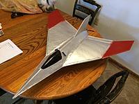 "Name: Arrow.jpg Views: 172 Size: 579.9 KB Description: Arrow delta winged pusher prop foam jet. Weight is around 1 lb. Wingspan is 32"""