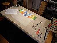 """Name: DSC00090.jpg Views: 385 Size: 177.5 KB Description: Step 17a - Using the fixed part of the elevator as a """"jig"""" position the elevator control surface and test fit the wood spar."""