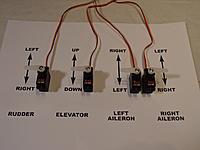 Name: DSC02656.jpg Views: 797 Size: 99.3 KB Description: Electronics - Plug EVERYTHING in - Bind - Test - Prog ESC - Mount Arms as shown - Prg Directions as Shown - Adj subtrims for 90 Positions