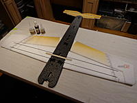 Name: DSC02663.jpg Views: 880 Size: 162.2 KB Description: Wing Spars - Two long thick round rods and wood spar. Wood spar will be sandwiched vertically between the rods