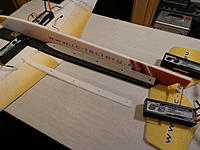 Name: DSC02694.jpg Views: 784 Size: 183.4 KB Description: Glue the truss supports to the fuselage as shown, either wet or tack up method could be used. Some kits will have black truss foam pieces