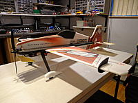 Name: DSC02776b.jpg Views: 981 Size: 216.5 KB Description: WOW..!!! what a nice looking plane... Ready to go. AUW with 3s/600mAh 385 grams!