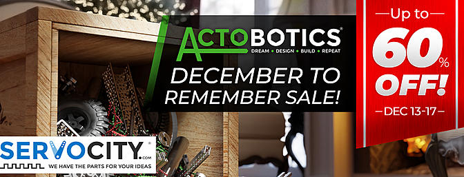 ServoCity - December to Remember Sale - Now - Dec 17th