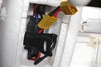 Name: IMGP7153.jpg Views: 225 Size: 95.5 KB Description: These two views show the velcro strap pinned and glued with epoxy into place...
