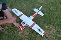 Name: DSC_0009.jpg Views: 94 Size: 313.9 KB Description: Cracked wing, motor mount, A pillar.  Nose wheel still intact.