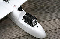 Name: skywalker_013.jpg Views: 3039 Size: 72.6 KB Description: HD camera mounted on dissipative foam pad.