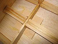 """Name: strut mounting doublers 092311.jpg Views: 320 Size: 209.6 KB Description: 1/8"""" bass wood doublers for strut mounting screws"""