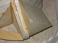 """Name: bow filler block with spacer 111711.jpg Views: 288 Size: 127.3 KB Description: 1/4"""" balsa spacer to fill out space"""