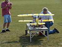 Name: 2012 RCRC Funfly 001.jpg Views: 113 Size: 305.1 KB Description: The original owner on right before the fateful flight.