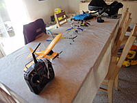 Name: DSC01380.jpg Views: 81 Size: 205.4 KB Description: My current hanger. Champ is the best, Night Vapor is a decent indoor UM plank and what I will be flying untill spring.