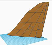 Name: vulcan_07.jpg Views: 8 Size: 42.4 KB Description: Wing in one piece with all control surfaces joined and put in place leaving small gaps but with 1mm joiners between then to add as supports that can be cut away after printing - Will it print?