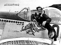 Name: hofer_duke.jpg Views: 127 Size: 34.0 KB Description: Ralph with his dog Duke.  Duke actually flew a cross country hop on Ralph's lap while doing barrel rolls in front of the other pilots who couldn't see Ralph crouched down.