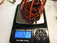 Name: B-17 measurements 2014-05-11 011.jpg Views: 44 Size: 469.9 KB Description: here is what all that wire for the nav lights weighed.  This is just one side. Total was over 24 grams.