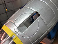 """Name: Chin Turret 2014-06-19 001.jpg Views: 42 Size: 688.6 KB Description: Outline if where it will be mounted.  I cut in about a 1/4"""" with a razor"""