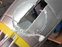 Name: Chin Turret 2014-06-19 002.jpg Views: 43 Size: 495.6 KB Description: Made a second cut just  inside the outer one.