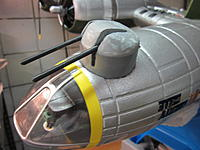 Name: Chin Turret 2014-06-19 005.jpg Views: 46 Size: 393.9 KB Description: test fit. Guns not glued and not painted yet.