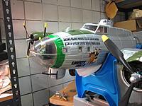 Name: B-17 conversion to 571SQ 2014-06-20 001.jpg Views: 40 Size: 571.7 KB Description: Green Strip for 571 SQ