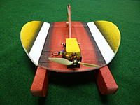 Name: P1100166.JPG Views: 26 Size: 2.74 MB Description: This is the updated version with new pod and skid shape and a slightly larger rudder.  the paint added weight and I recommend you keep it as light as possible for best flight.