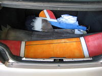 """Name: QPlane 9-08 036.jpg Views: 394 Size: 75.6 KB Description: The Corolla trunk will fit 48"""" wings."""