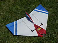 """Name: P1010566-001.jpg Views: 200 Size: 308.9 KB Description: This 29"""" Roswell is not laminated to keep the weight down.  Lamination is heavy enough that it is hard to balance a laminated plane with a mid mounted motor.  Lamination adds about 4 oz of weight to the plane most of it behind CG."""