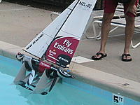 Name: Boat Dolly.jpg Views: 678 Size: 240.8 KB Description: Launch by rolling of the edge and slidding into the water.